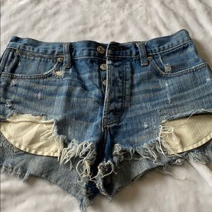 Abercrombie and Fitch shorts.